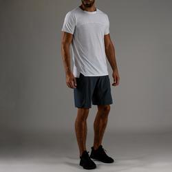 Camiseta Manga Corta Fitnes Cardio Domyos Hombre Blanco FTS 920