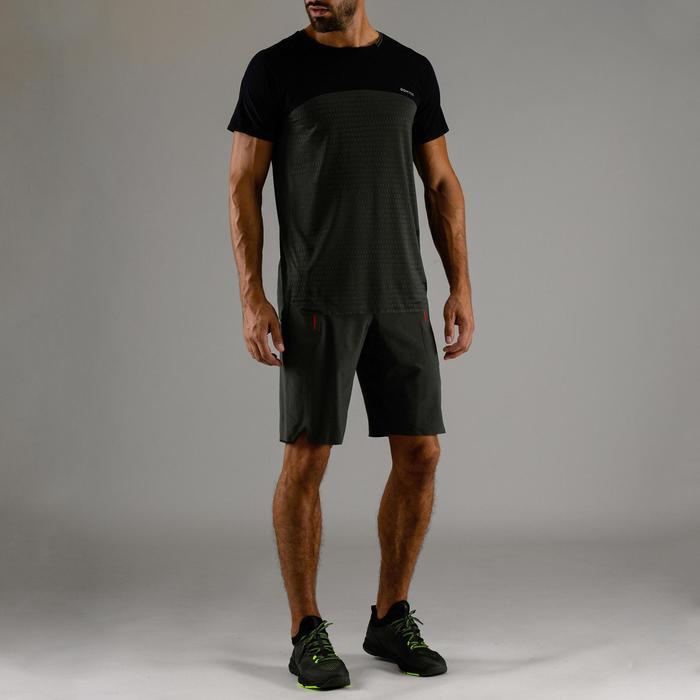 Cardiofitness T-shirt voor heren FTS 920 marineblauw kaki