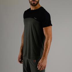 T-shirt voor cardiofitness heren FTS 920 marine kaki