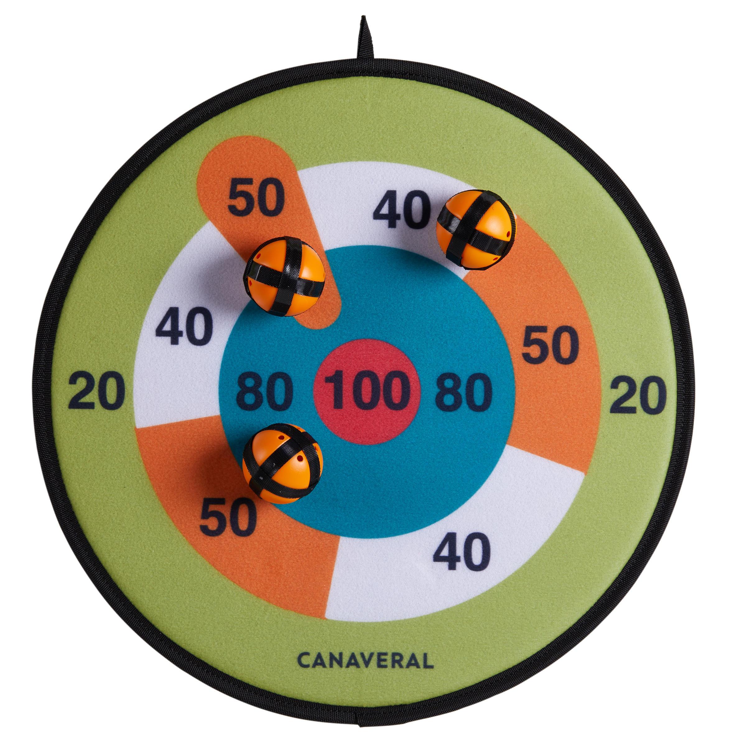 Cible velcro 37 cm Avec Flechettes Et Balles jeu De Plein Aire enfant 2 En 1