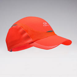 Children's track and field cap neon red and coral