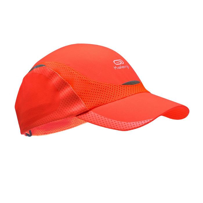 Lauf-Cap Schirmmütze Kinder neonrot/koralle