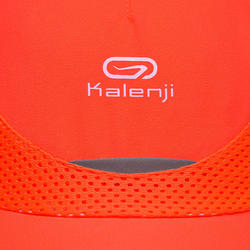 Casquette Athlétisme enfant Rouge fluo et corail