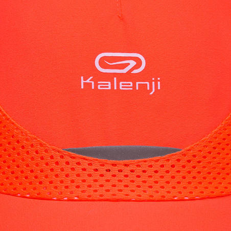 Children's athletics cap neon red and coral