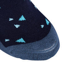 Girls' Horse Riding Socks 500 Print - Navy/Turquoise