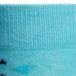 Reitsocken 500 Girl Kinder marineblau/türkis