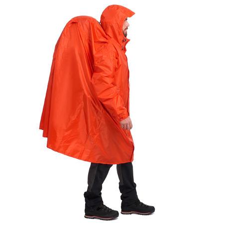 Дощовик-пончо Forclaz для гірського трекінгу, 75 л, розмір L/XL - Червоний