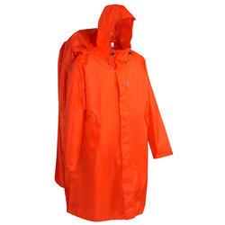 Regenponcho voor trekking 75 l maat S/M rood