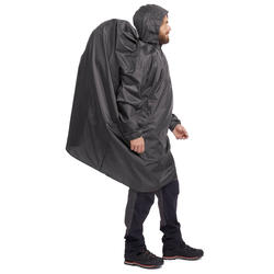 Arpenaz Hiking and Mountain Trekking 40-Litre S/M Rain Cape - Dark Grey