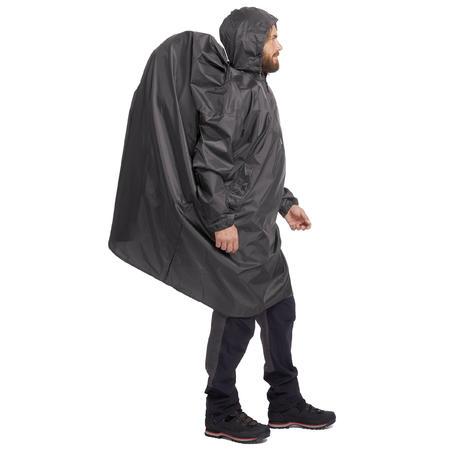 Poncho pluie de randonnée ARPENAZ 40L - Taille TP - gris