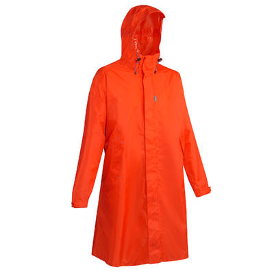 Hiking Rain Poncho - FORCLAZ 75 Size L/XL Red