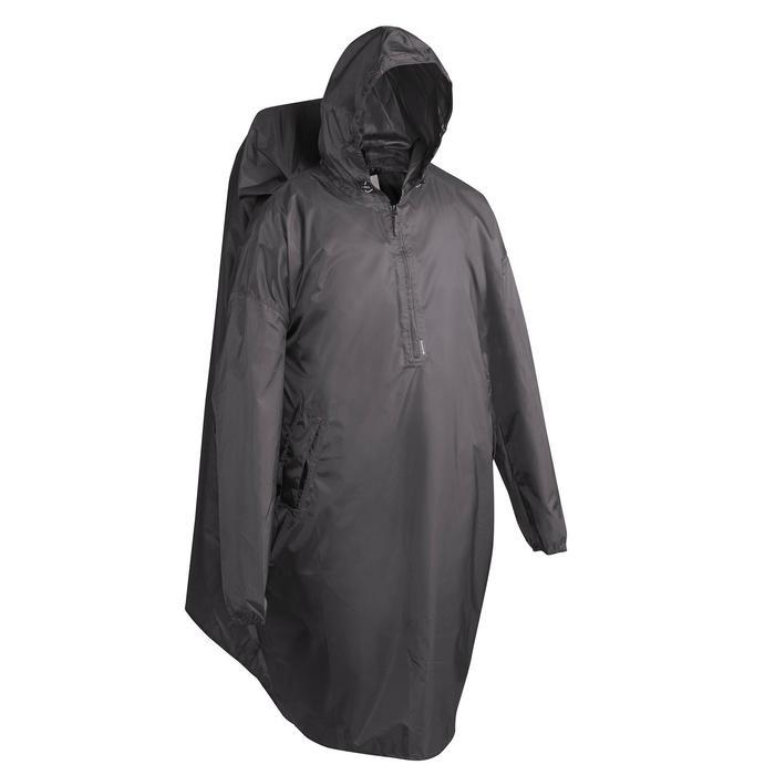 S/M號健行斗篷式雨衣ARPENAZ 40 L-灰色