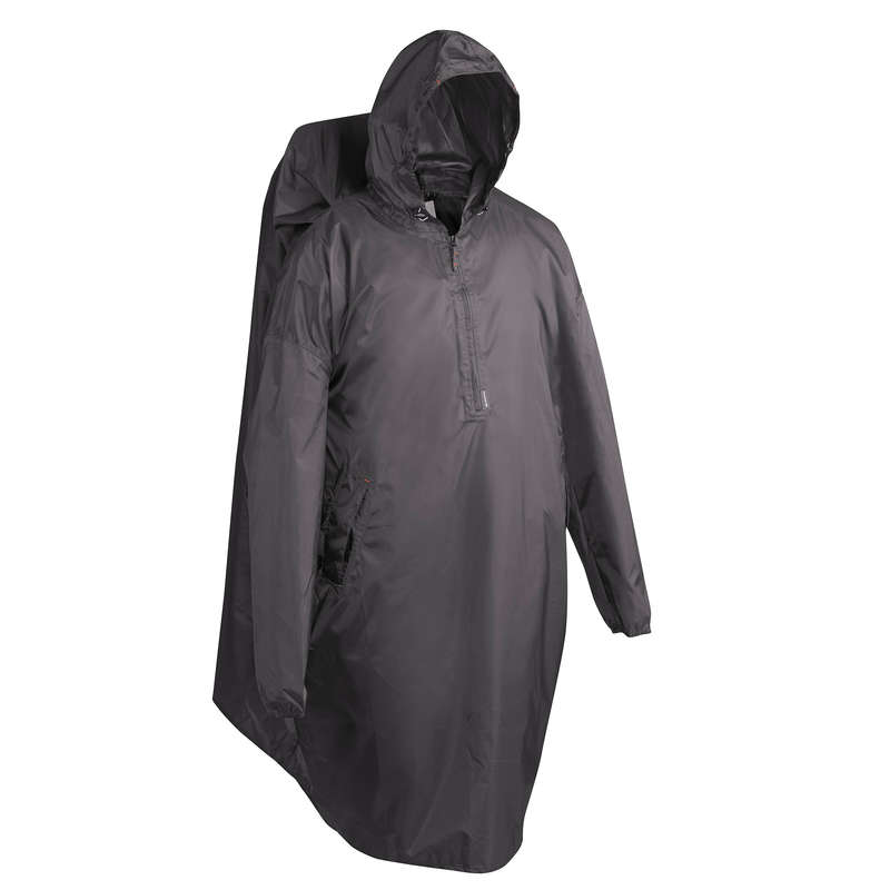 PONCHOS HIKING/TREK Hiking - Arpenaz 40 Litre Waterproof Poncho L/XL - Grey FORCLAZ - Hiking Clothes