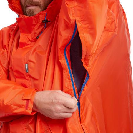 Hiking Rain Poncho - FORCLAZ 75 Size L/XL Red