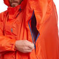 Poncho para LLuvia de Montaña y Trekking Adulto Forclaz 75 Naranja