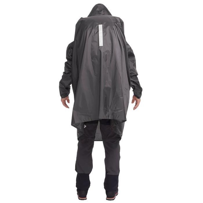 Poncho pluie de randonnée - ARPENAZ 40L gris - Taille XS