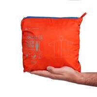 פונצ'ו לטיולים במזג אוויר גשום דגם FORCLAZ 75L – מידות S/M אדום