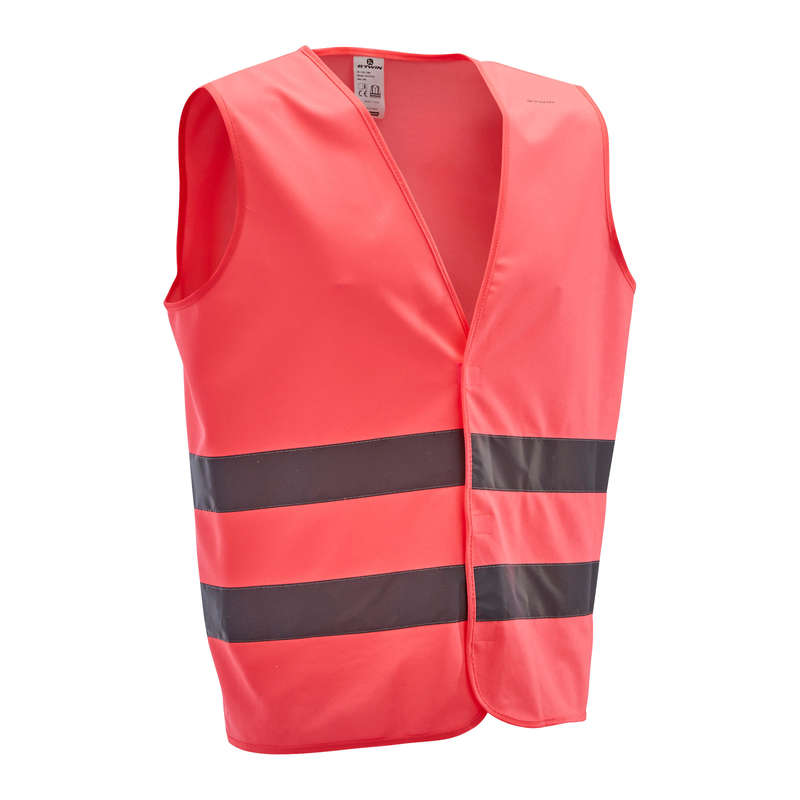 CYCLIST VISIBILITY ACCESS Clothing  Accessories - High Visibility Gilet 500 Pink B'TWIN - Clothing  Accessories
