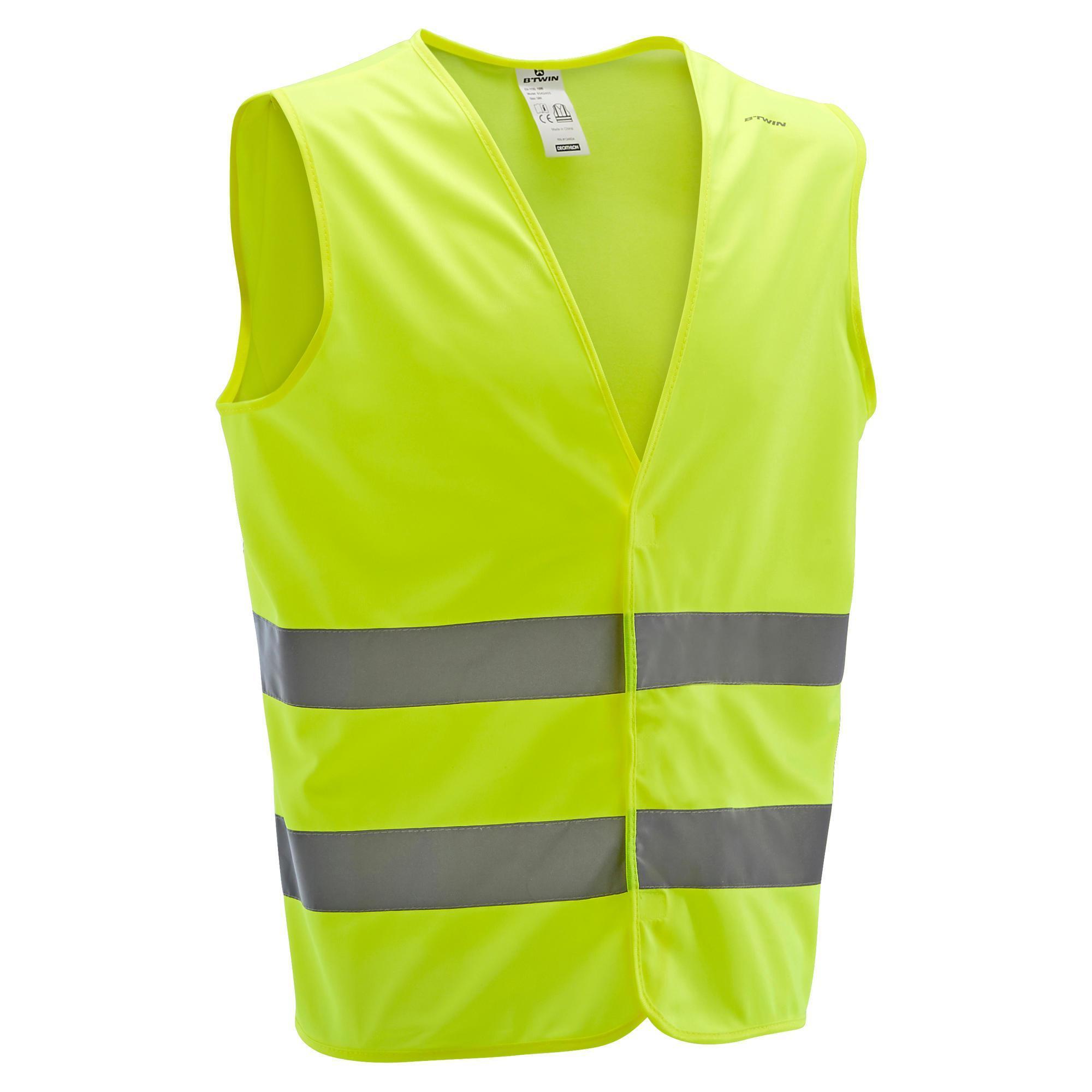 Sicherheitsweste UC 500 Erwachsene neongelb | Bekleidung > Westen | Gelb | B´twin