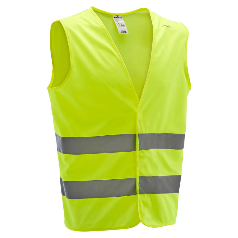 CYCLIST VISIBILITY ACCESS Clothing  Accessories - High Visibility Gilet 500 B'TWIN - Clothing  Accessories