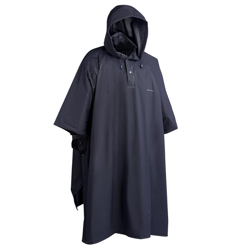 เสื้อปอนโชกันฝนสำหรับผู้ใหญ่ใส่เดินป่ารุ่น ARPENAZ 10 ลิตร (สีน้ำเงิน)