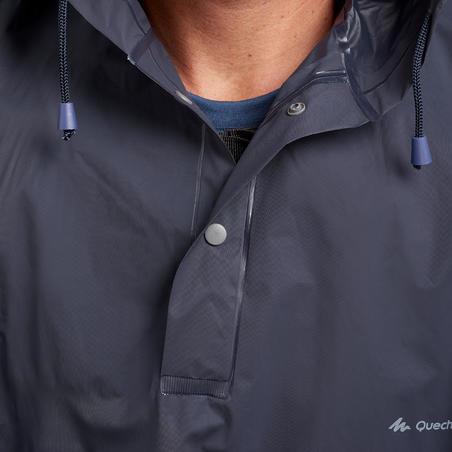 Poncho para Lluvia de Montaña y Trekking Adulto Arpenaz 10 Impermeable Azul