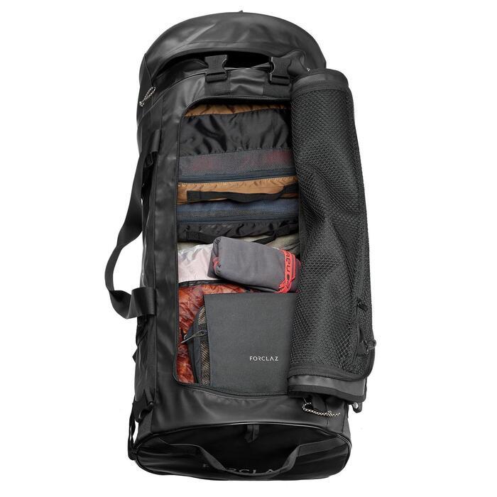 Reistas voor trektochten - 120 l - zwart