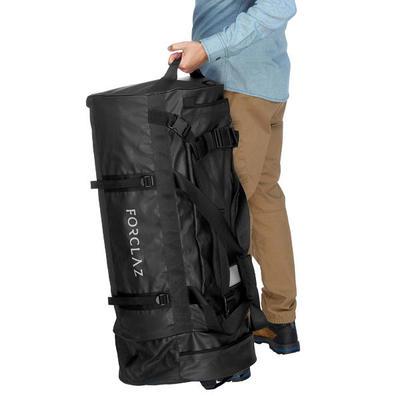 Дорожня сумка для трекінгу, 120 л - Чорна
