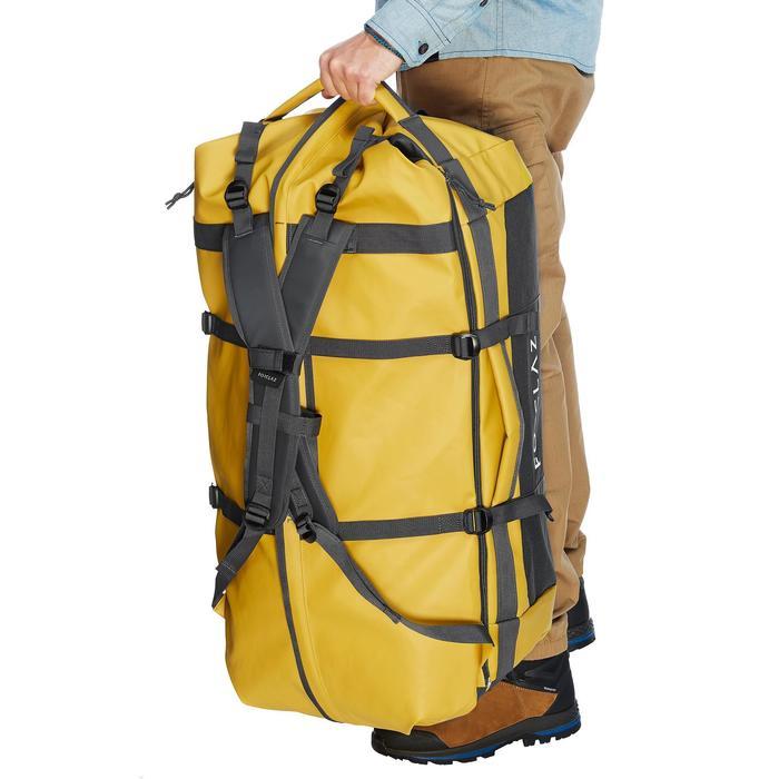 Sac de transport Trekking Voyage extend 80 à 120 litres jaune