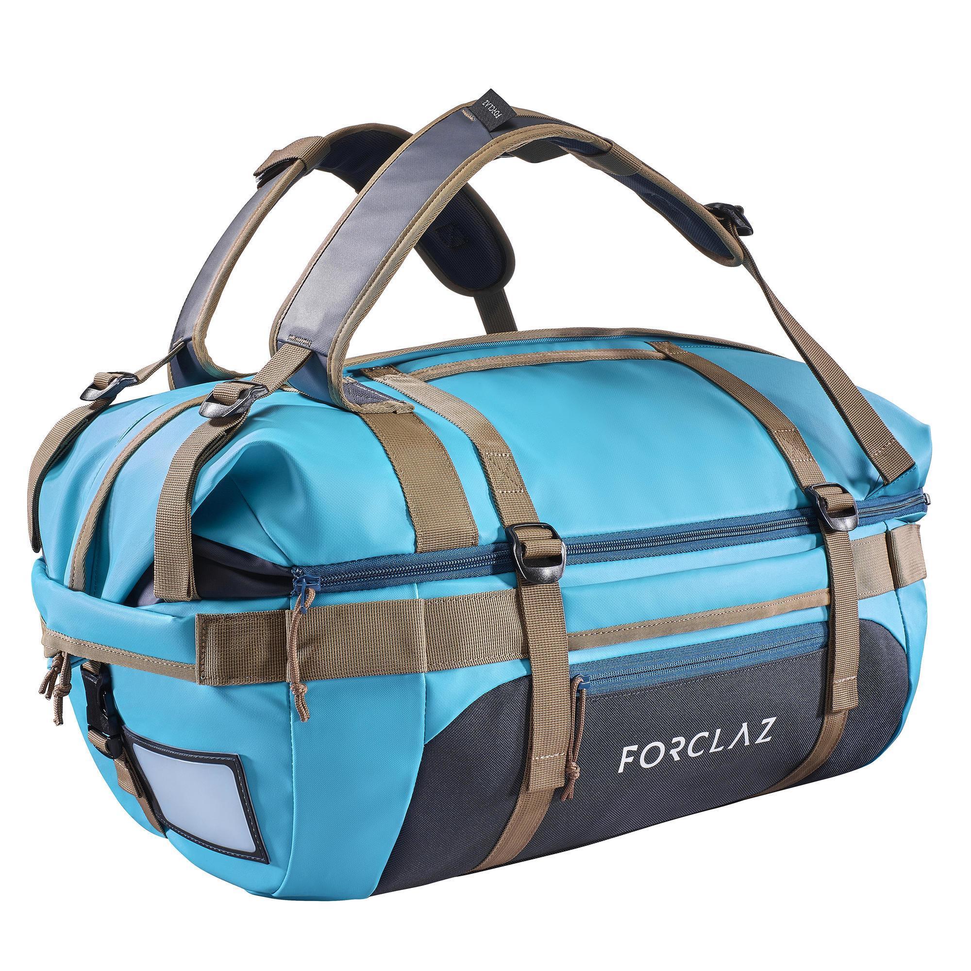 Sac de transport Mountain Trekking Voyage extend 40 à 60 litres bleu - Forclaz