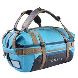 多功能登山健行攜帶包Voyage 40到60 L-藍色