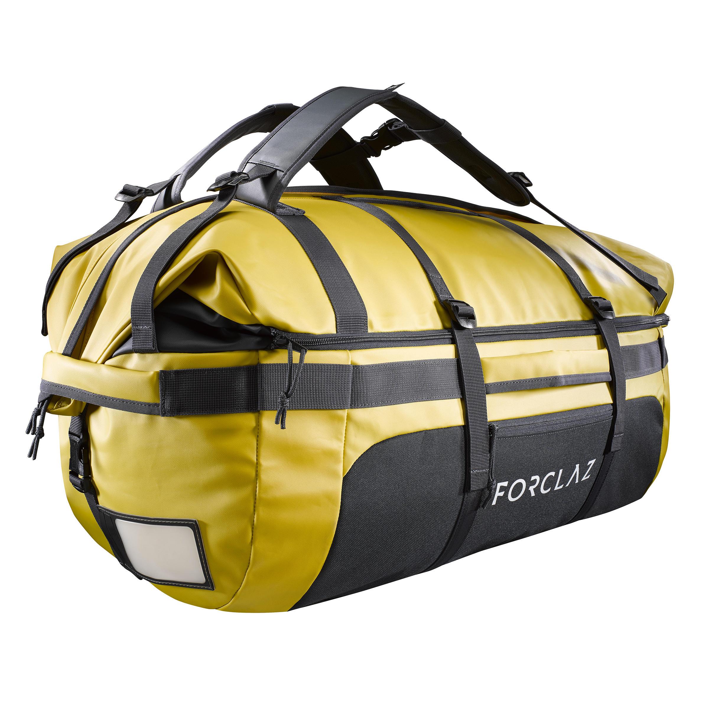 Sac de transport Trekking Voyage extend 80 à 120 litres jaune - Forclaz
