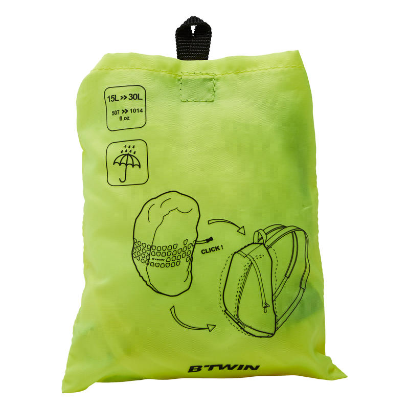 Backpack Cover 15 to 35 L - Neon Yellow