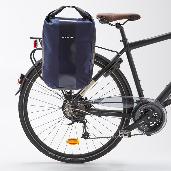 Fietstas 500 op bagagedrager 20 l waterdicht blauw