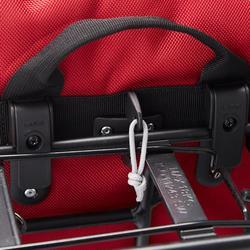 Fietstas 500 op bagagedrager 20 l waterdicht rood