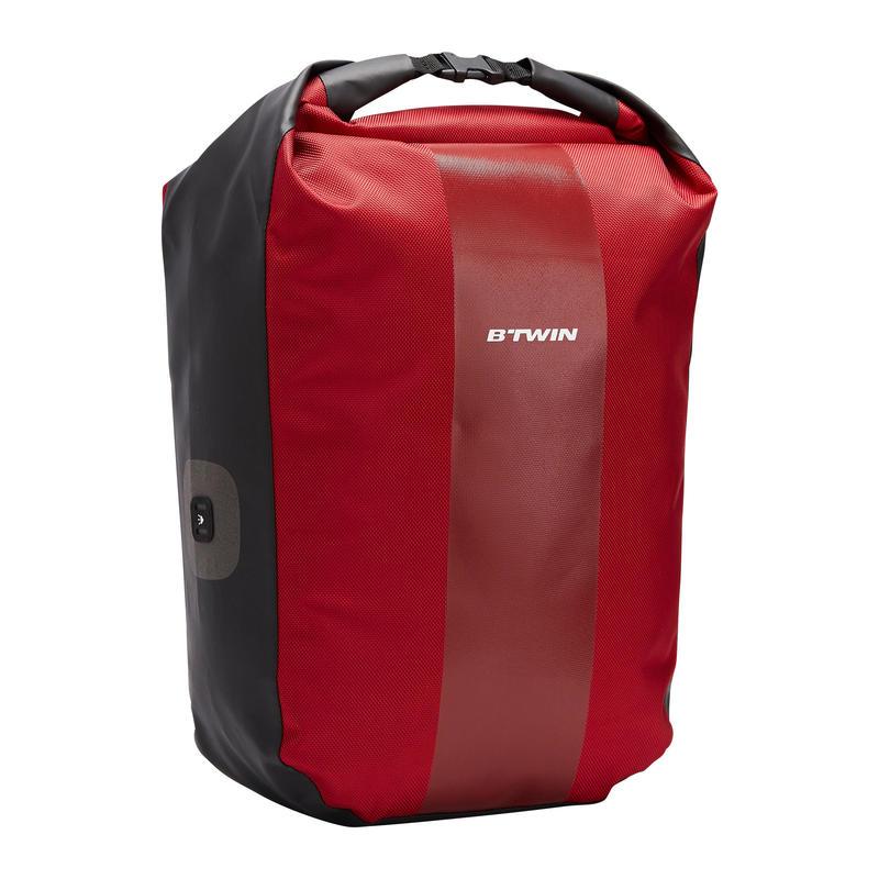 500 Pannier Rack 20L Waterproof Bike Bag - Red
