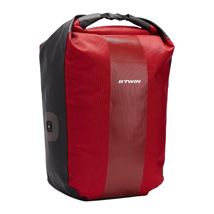 Fahrradtasche Gepäcktasche 500 wasserdicht 20 Liter rot