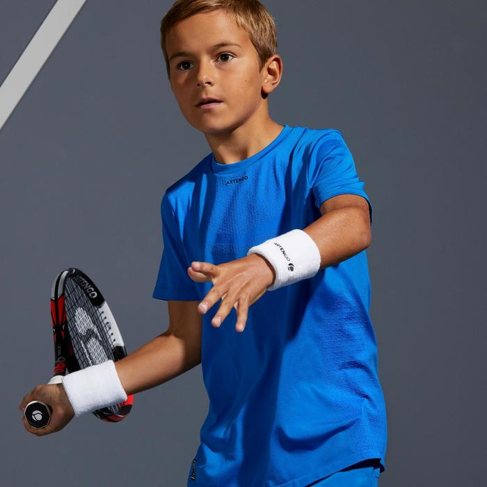 T-Shirt 900 Tennisshirt Jungen blau