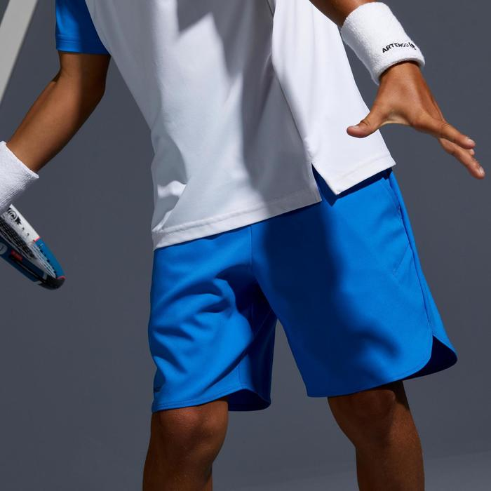 Tennis-Shorts 500 Kinder blau