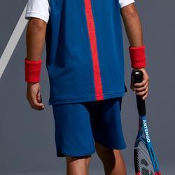 兒童款網球短褲500-靛藍色