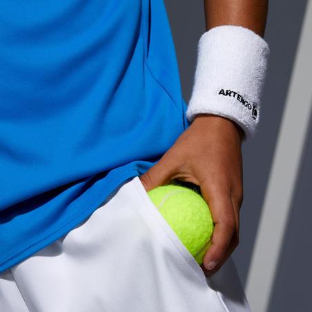Celana Pendek Tenis Anak 500 - Putih