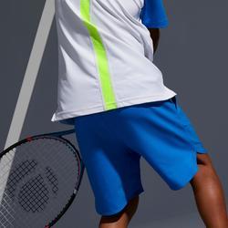 Tennisshort kinderen 500 blauw