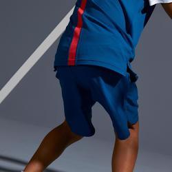 Tennis-Shorts 500 Kinder petrolblau