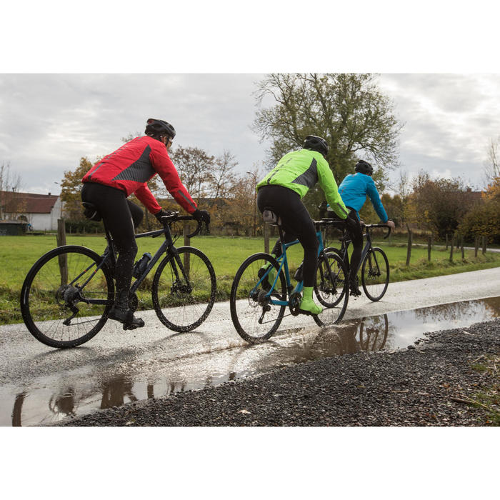 500 Road Cycling and Bike Touring Showerproof Jacket - Neon Yellow