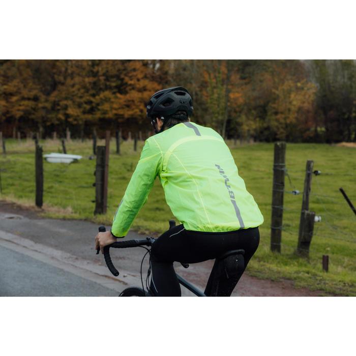Fietsregenjasje voor heren 100 wielertoerisme fluogeel