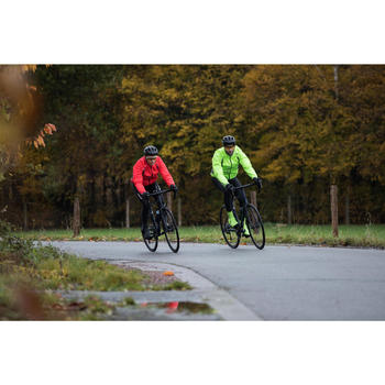 500 Road Cycling Cycle Touring Showerproof Jacket - Neon Yellow
