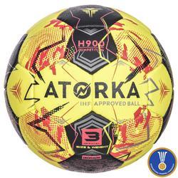 Balón de Balonmano Atorka H900 IHF Talla 3 Amarillo Rojo
