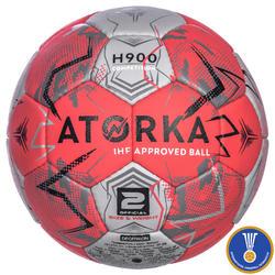 Balón de balonmano adulto H900 IHF Talla 2 rosa / gris