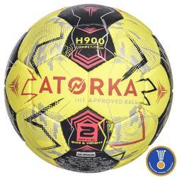 Balón de Balonmano Atorka H900 IHF Talla 2 Amarillo Gris