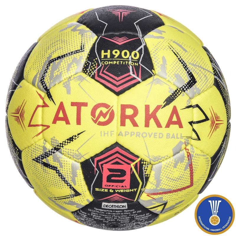 H900 IHF Size 2 Adult Handball - Yellow/Grey